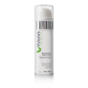 Victorias 5 Step Skincare Range Beta Smooth Body Cream Salicylic acid exfoliating and moisturising cream moisturises and removes dry, hardened keratolytic skin.