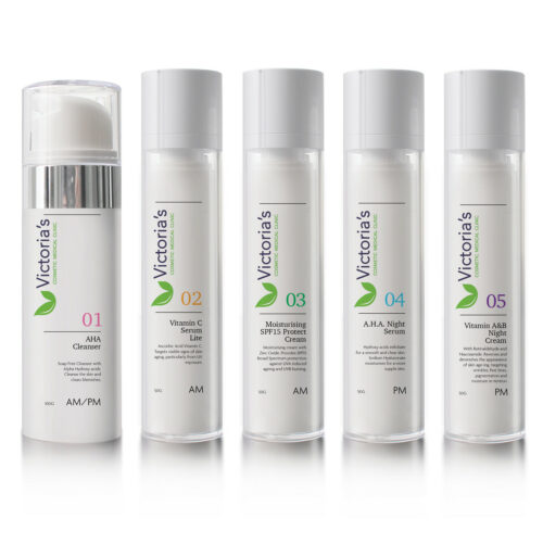 Victoria's 5 Step Skincare Range - The daily skin regime helps to maintain a supple complexion, keeping your skin soft and healthy.